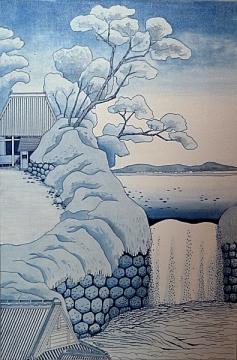 Interpretation of a Hokusai print
