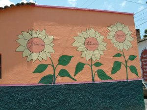 The wall of a shop in Chapala, Mexico
